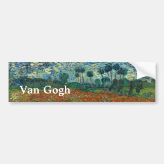 Poppy Field by Vincent Van Gogh Bumper Sticker