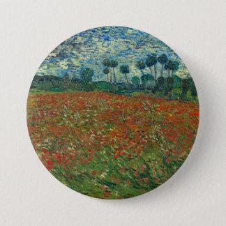 Poppy Field by Vincent Van Gogh Button