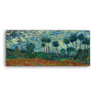 Poppy Field by Vincent Van Gogh Envelopes