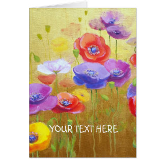 Poppy Field card1 Your Message Card