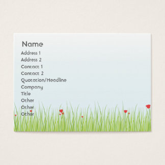 Poppy Field - Chubby Business Card