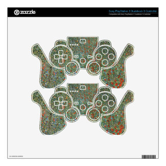 Poppy Field cool PS3 Controller Decal