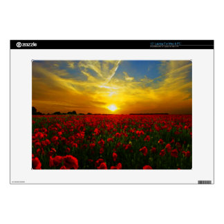 """Poppy field decal for 15"""" laptop"""