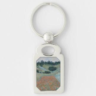 Poppy Field in a Hollow Near Giverny by Monet Keychain