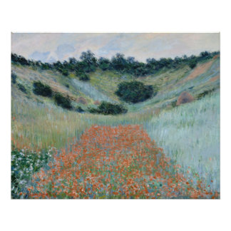 Poppy Field in a Hollow Near Giverny by Monet Photo Art