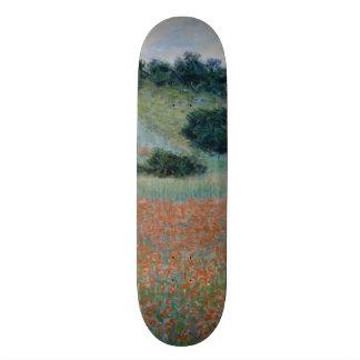 Poppy Field in a Hollow Near Giverny by Monet Skateboard