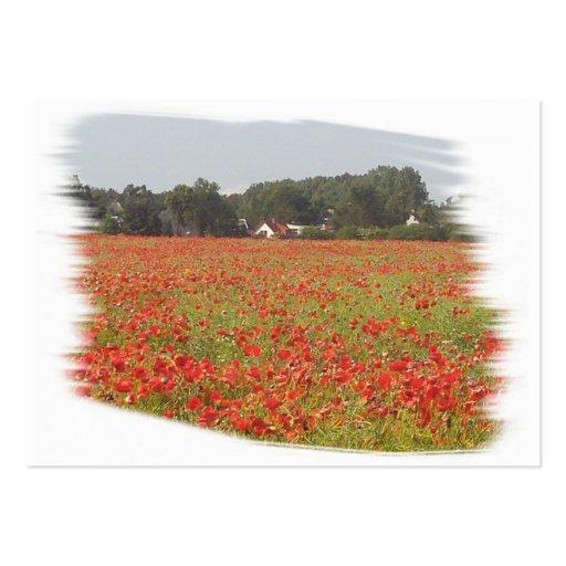 Poppy field large business card
