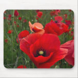 """Poppy Field Mouse Mat<br><div class=""""desc"""">Photograph of a field of beautiful Red Poppies</div>"""