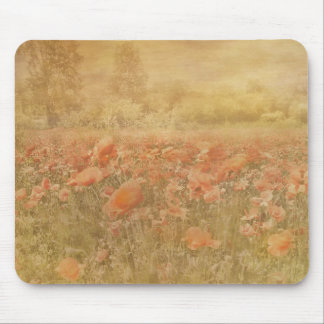 POPPY FIELD MOUSEMAT MOUSE PAD