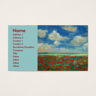 Poppy Field Painting Business Card