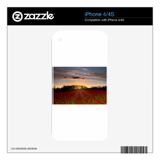 Poppy Field Pass Decals For iPhone 4