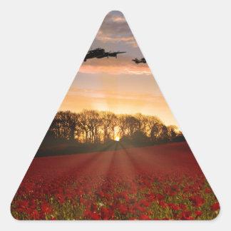 Poppy Field Pass Triangle Sticker
