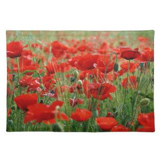 Poppy Field Cloth Place Mat