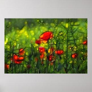 Poppy field posters