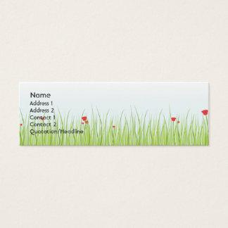 Poppy Field - Skinny Mini Business Card