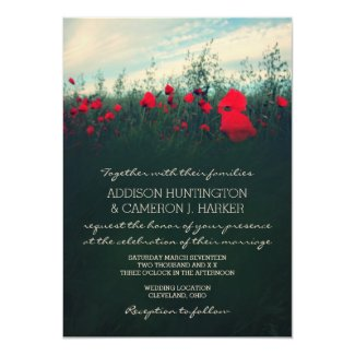 Poppy Field Wedding Invitation