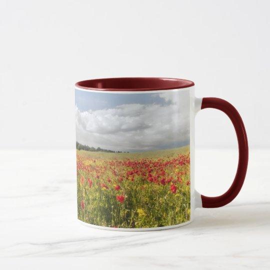 Poppy Fields II coffee mug