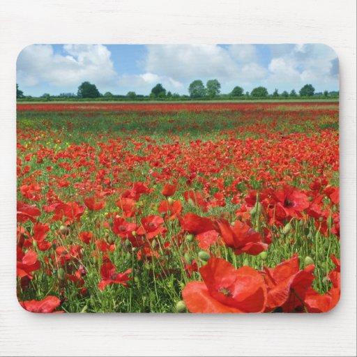 Poppy Fields Mouse Pad
