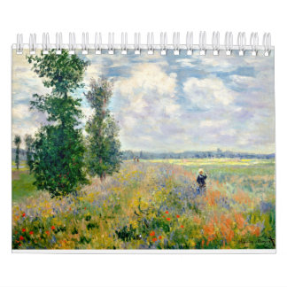Poppy Fields near Argenteuil by Claude Monet Calendar