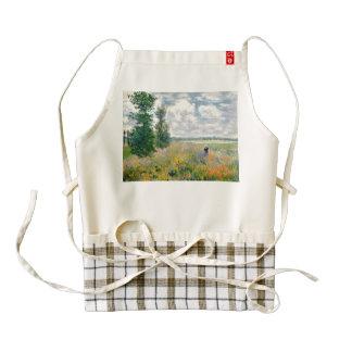 Poppy Fields near Argenteuil by Claude Monet Zazzle HEART Apron