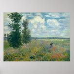 Poppy Fields near Argenteuil - Claude Monet Poster