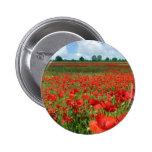 Poppy Fields Pinback Button
