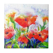 Poppy fields tile