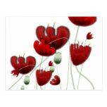 Poppy flora landscape red romantic dolce postcard