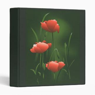 Poppy Floral Binder