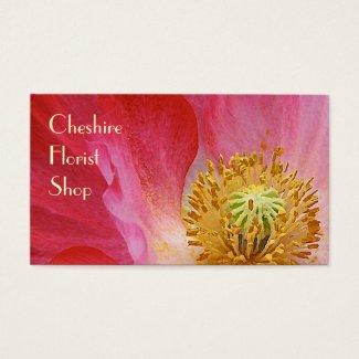 Poppy Florist Business Card