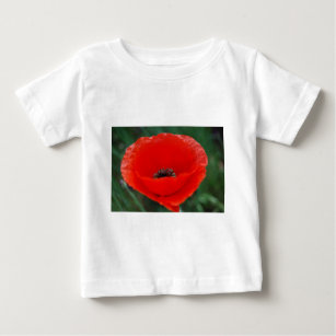 Red poppy veterans day t shirts shirt designs zazzle poppy flower and meaning baby t shirt mightylinksfo