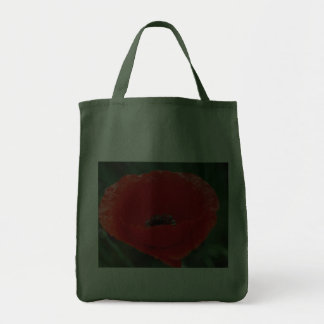 Poppy flower and meaning canvas bag