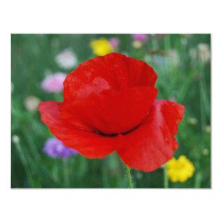 Poppy flower and meaning custom invitation
