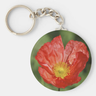 Poppy flower and meaning keychains
