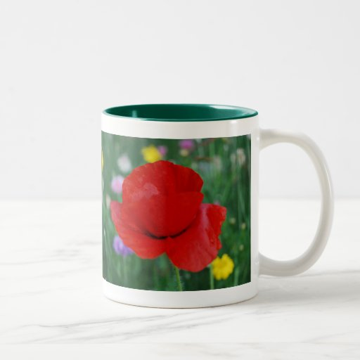 Poppy flower and meaning Two-Tone coffee mug
