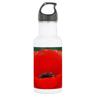Poppy flower and meaning water bottle