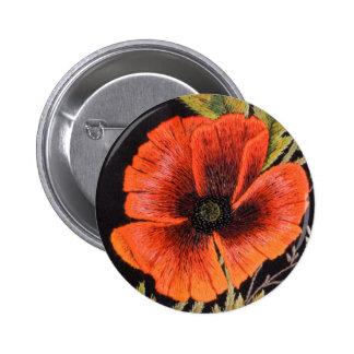 Poppy Flower Button