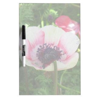 Poppy Flower Dry Erase Board
