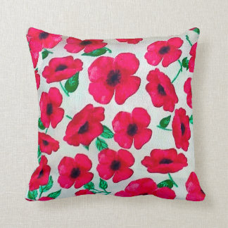 Poppy Flower image for Polyester Throw Pillow