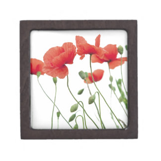 poppy-flower keepsake box
