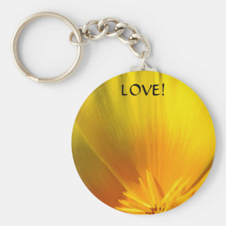 POPPY FLOWER keychain LOVE! Valentines Day