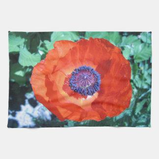 Poppy Flower Hand Towels