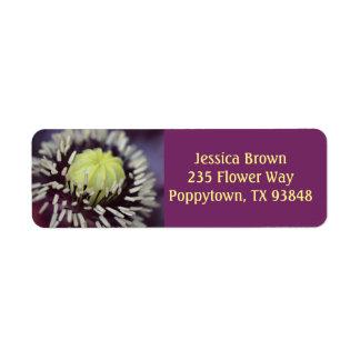 Poppy Flower Label