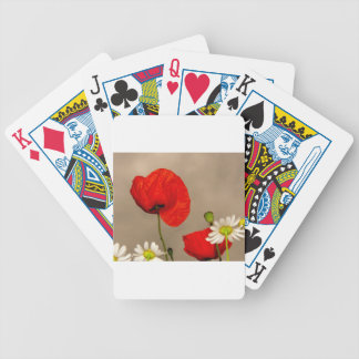 Poppy Flower Bicycle Playing Cards