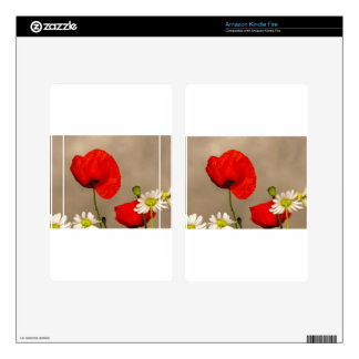 Poppy Flower Skins For Kindle Fire