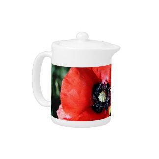 Poppy Flower teapot
