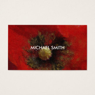 Poppy Flower - The Business Card