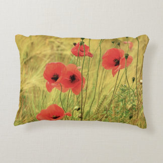 Poppy Flowers Decorative Pillow