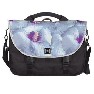 Poppy Flowers Pattern Laptop Messenger Bag