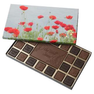Poppy Flowers Photo Custom  Assortment Assorted Chocolates